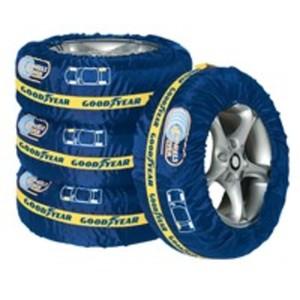 Goodyear Reifentaschen-Set mit Rad-Kennzeichnung, 4-teilig