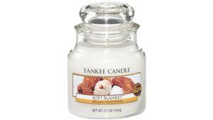 YANKEE CANDLE Kleine Duftkerze im Glas - Soft Blanket