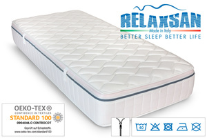 Relaxsan Ortho Vital Komfort Matratze mit 3D Klimaband, ca. 140 x 200 cm, H4