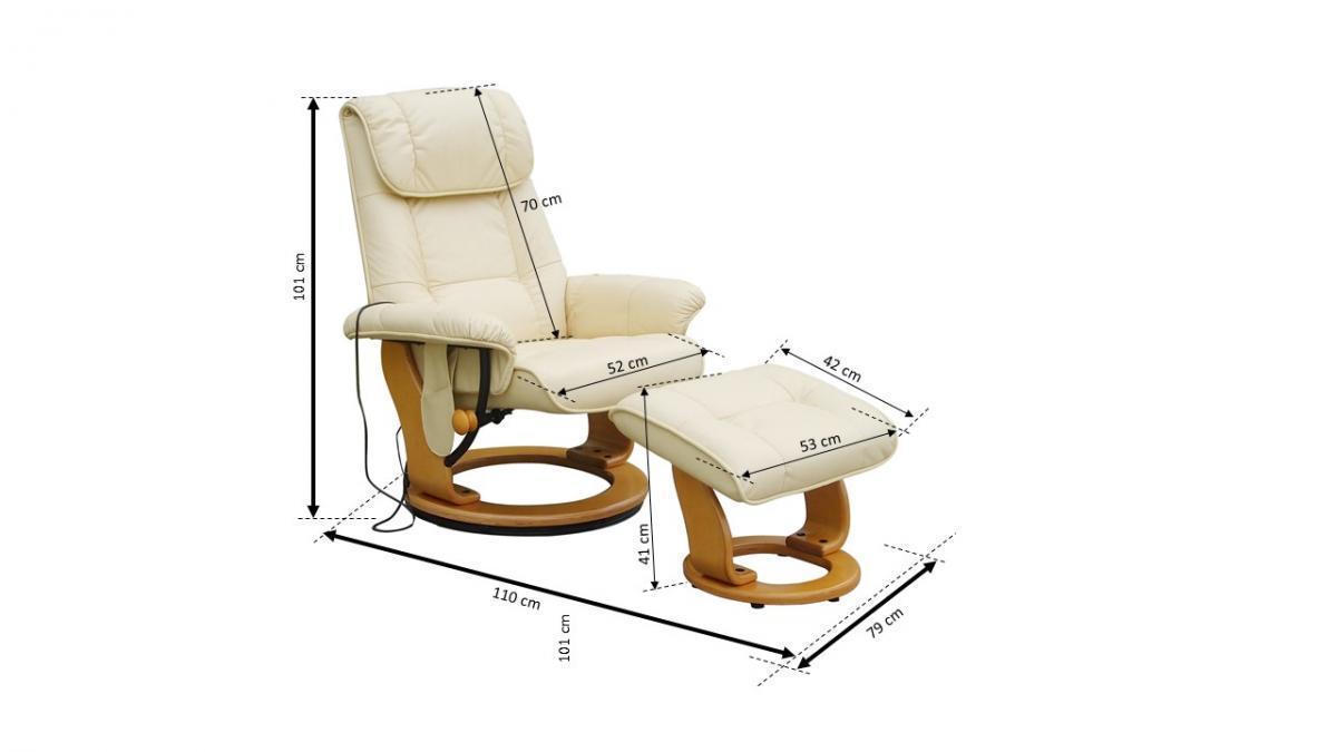 Bild 3 von Alpha Techno Massagesessel 7036 beige