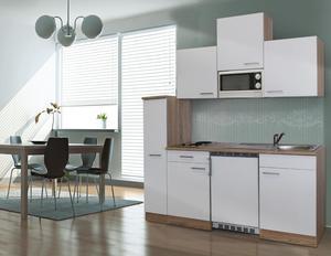 respekta Economy Küchenblock 180 cm, weiß ESKM
