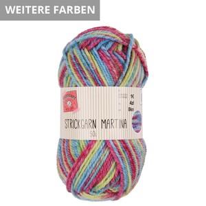 Strickgarn Martina Multicolor, Nadelstärke 3-4 mm, 101 m, 50 g, beige