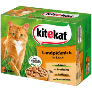 Kitekat Katzenfutter Landpicknick in Sauce 12x100g