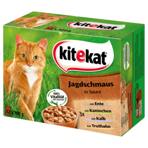 Kitekat Katzenfutter Jagdschmaus in Sauce 12x100g