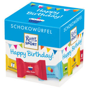 Ritter Sport Schokowürfel Happy Birthday 176g