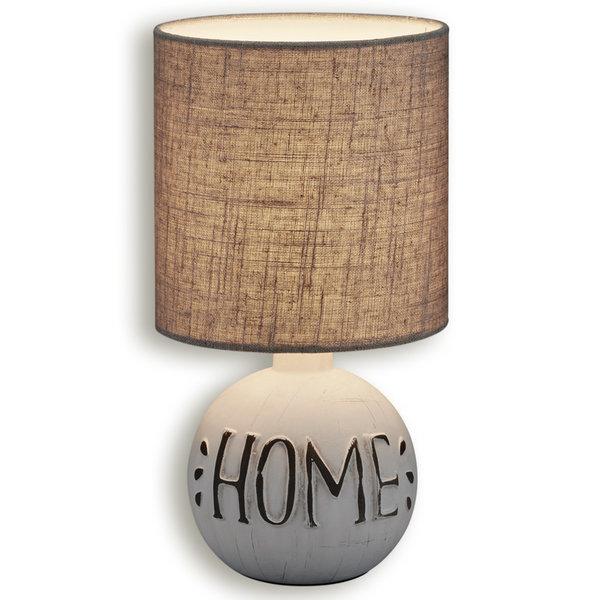 Tischlampe ESNA - beige - Keramik
