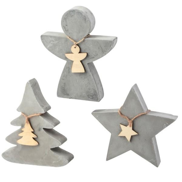 Beton Weihnachtsdeko.Weihnachtsdeko Klein Stern Baum Oder Engel Aus Beton
