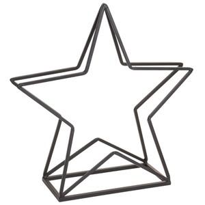 Kaminholzständer sternenförmig aus schwarzem Metall
