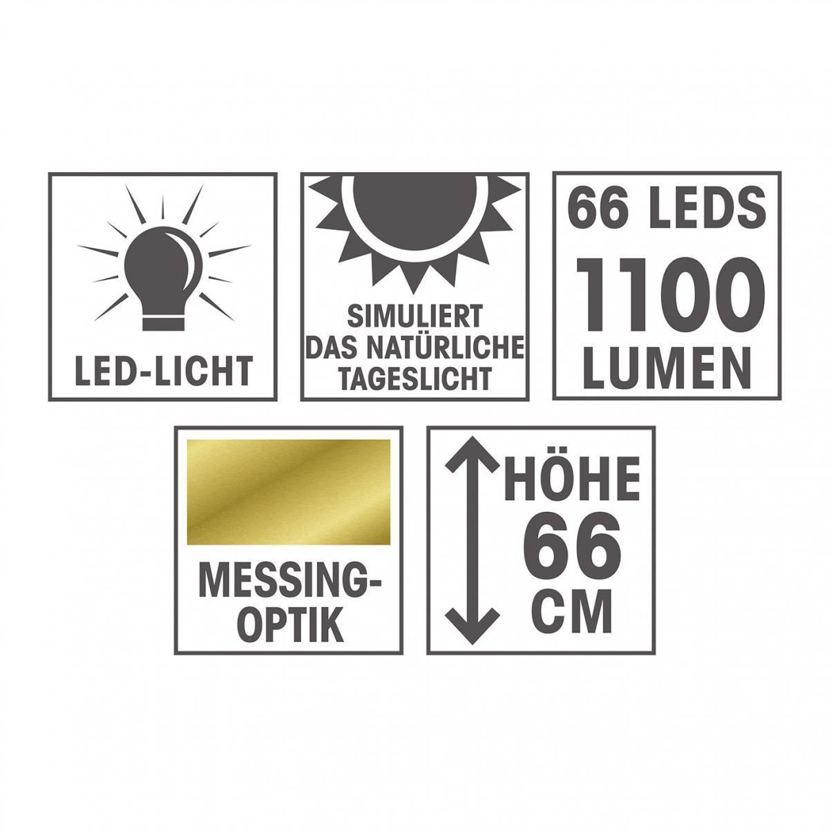 Bild 3 von EASYmaxx LED-Tageslicht-Tischleuchte Daylight, 12W, Messingfarben