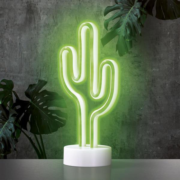 EASYmaxx Dekoleuchte Kaktus 4,5V grün