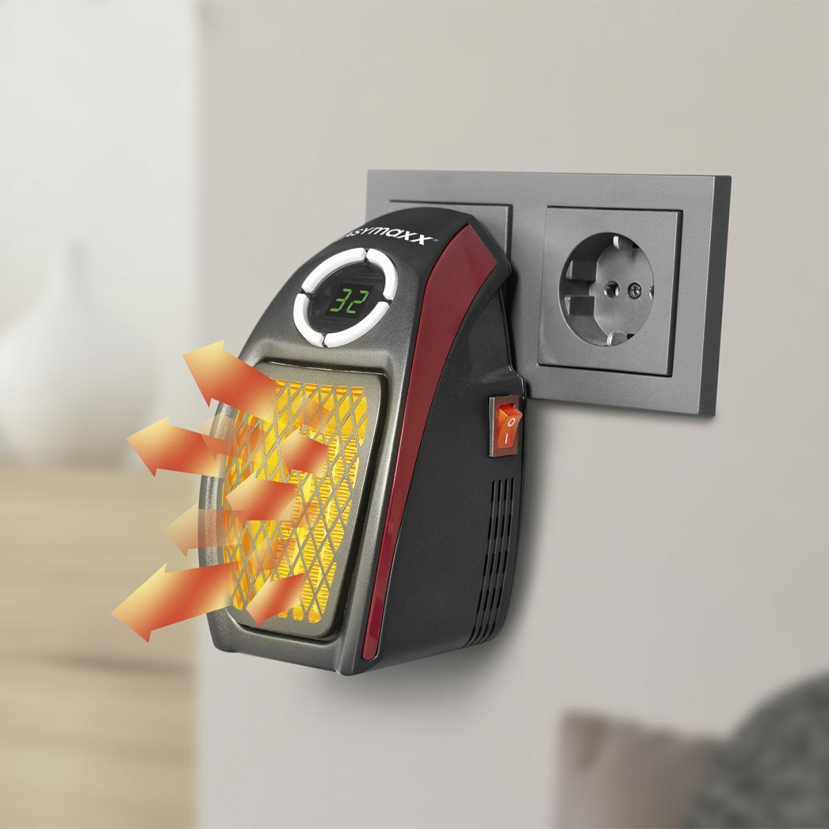 Bild 1 von EASYmaxx Mini-Heizung 500W schwarz/rot