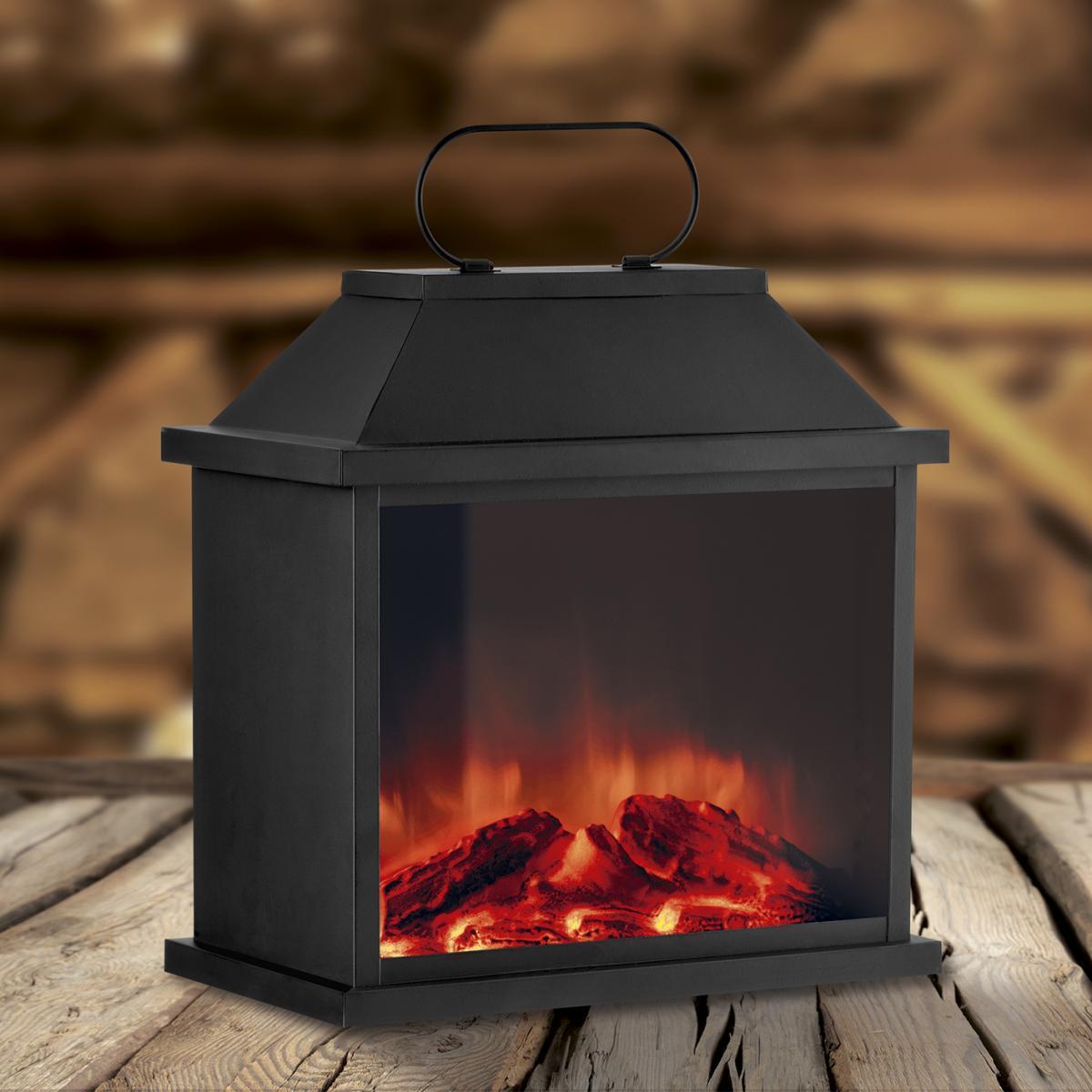Bild 2 von EASYmaxx LED-Laterne Flamme Metall 4,5V schwarz