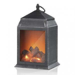 EASYmaxx LED-Laterne Flamme 3V schwarz