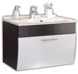 Posseik Waschplatz Salona anthrazit-weiss mit Mineralguss-Waschbecken 5600
