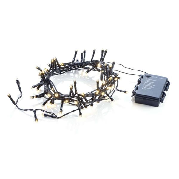 ProVida Lichterkette mit 80 LEDs warmweiß 4,4 m