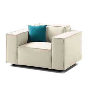 Sessel Kinx Webstoff - Stoff Osta Altweiß, Kinx