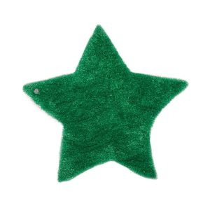 Teppich Soft Star - Grün - Maße: 100 x 100 cm, Tom Tailor