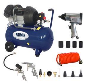 Atrox AY676 Doppelzylinder-Kompressor-Set