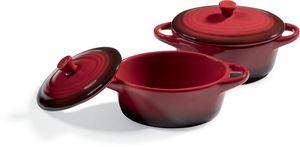 Kitchen Club Keramik-Backförmchen, 2er Set - Rot