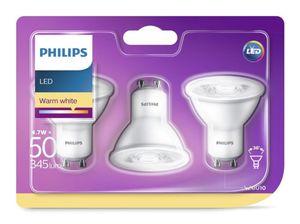 PHILIPS LED Leuchtmittel -Reflektor GU10 50W, 3er Pack