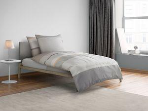 Castell Biber Bettwäsche Stripes-Design Grey