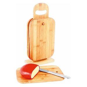 Bambus-Frühstücksbretter 4er-Set