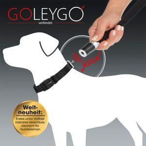 GoLeyGo Hundeleine & Halsband L schwarz Magnet-Klick-System