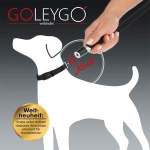 GoLeyGo Hundeleine & Halsband S schwarz Magnet-Klick-System