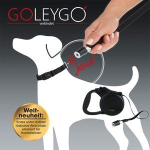 GoLeyGo Hundeleine & Halsband M schwarz Magnet-Klick-System