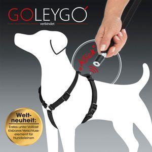 GoLeyGo Hundeleine & Geschirr L schwarz Magnet-Klick-System