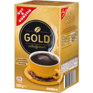 Gut & Günstig Kaffee GOLD entkoffeiniert