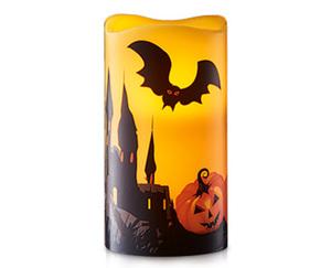 CASADeco LED-Echtwachskerze Halloween