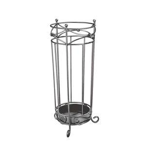 Schirmständer Joliette - Anthrazit-Silberfarben, Home Design