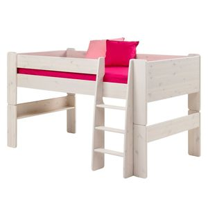 Halbhochbett Steens for Kids - Kiefer massiv - Weiß, Steens