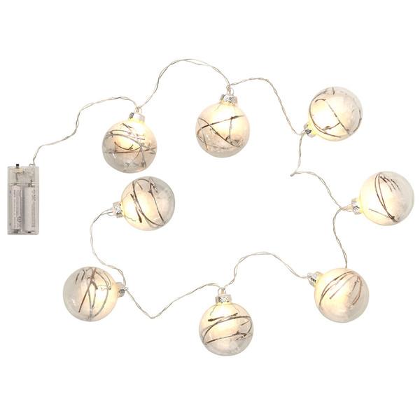 Led Weihnachtskugeln.Led Lichterkette Mit 8 Weihnachtskugeln