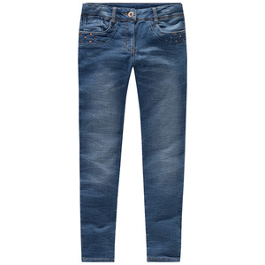 Mädchen Skninny-Jeans mit Nieten-Applikation