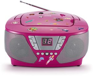 Tragbarer CD-Player pink