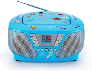 Tragbarer CD-Player blau