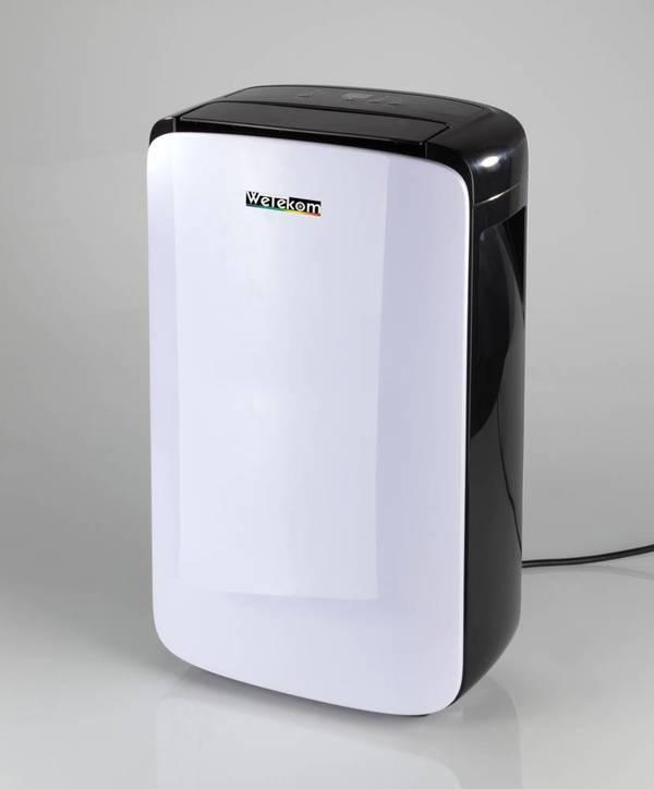 Luftentfeuchter, 200 Watt, Standgerät auf Rollen für Räume bis 20 qm (Luftvolumen 100 m³/Stunde) Wetekom