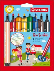 STABILO 8er-Pack Fasermaler Trio Scribbi