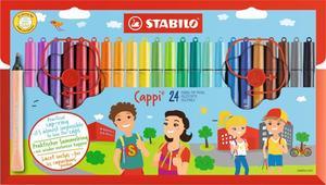 STABILO 24er-Pack Fasermaler Cappi