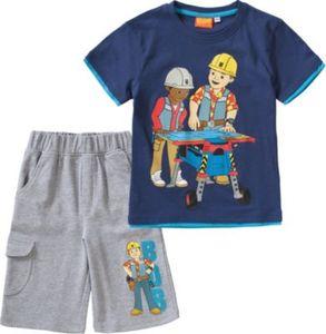 Bob der Baumeister Set T-Shirt + Sweatshorts Gr. 92/98 Jungen Kleinkinder