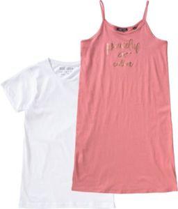 Kinder Set Jerseykleid + T-Shirt Gr. 164 Mädchen Kinder