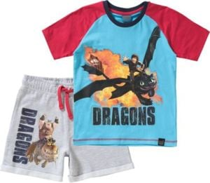 DRAGONS Set T-Shirt + Shorts Gr. 128/134 Jungen Kinder