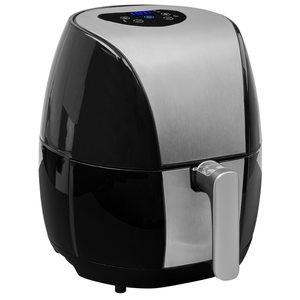TEC STAR Digitale Heißluftfritteuse MD 18047, für ölfreies Frittieren, 1500 Watt, Temperaturkontrolle bis 200 °C, Cool-Touch-Griff