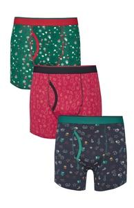 Weihnachtliche Boxershorts, 3er-Pack