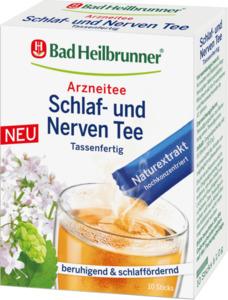 Bad Heilbrunner Arzneitee im Stick, Schlaf- & Nerven-Tee, mit Baldrianwurzel, Hopfenzapfen & Melissenblätter