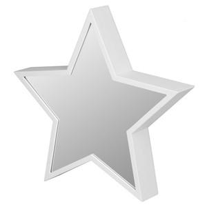 Deko-Stern, LED, Endlos-Spiegeleffekt, 29,5 cm, weiß