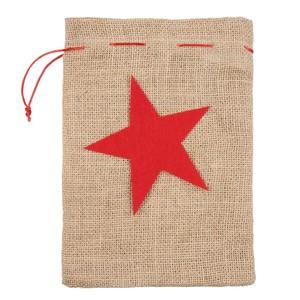 Geschenkebeutel, Leinensack, Weihnachtsstern, groß