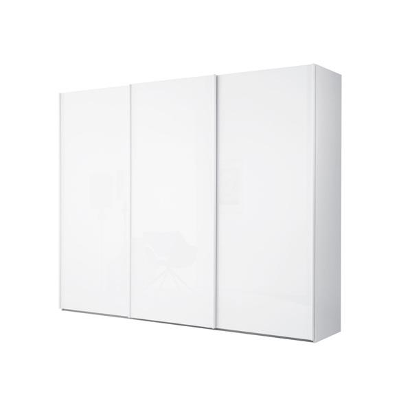MONDO Schwebetürenschrank BANJA Lichtgrau Hochglanz ca. 250 x 223 x 67 cm von ansehen